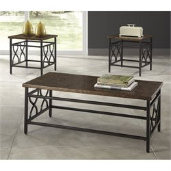 Ashley Tippley 3 Piece Coffee Table Set in Bronze