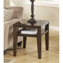 Ashley Deagan Rectangular End Table in Dark Brown