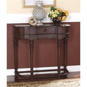Ashley Brookfield Sofa Table in Dark Brown