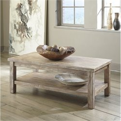 Ashley Vennilux Rectangular Coffee Table in Bisque