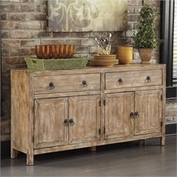 Ashley Vennilux Accent Cabinet Console Table in Bisque