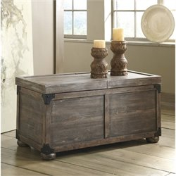 Ashley Vennilux Storage Coffee Table in Gray and Brown