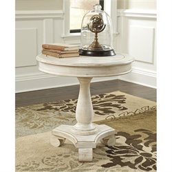 Ashley Mirimyn Round Accent Table in White