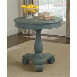 Ashley Mirimyn Round Accent Table in Soft Blue