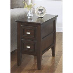 Ashley Larimer Chair Side End Table in Dark Brown