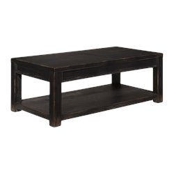Ashley Gavelston Rectangular Coffee Table in Black
