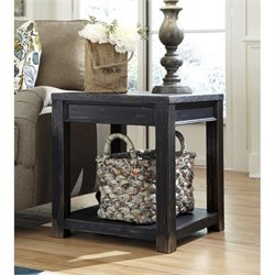 Ashley Gavelston Square End Table in Black