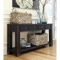 Ashley Gavelston Console Table in Black