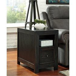 Ashley Gavelston Chair Side End Table in Rubbed Black