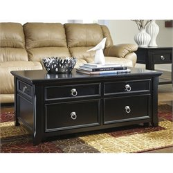 Ashley Greensburg Lift Top Coffee Table in Black