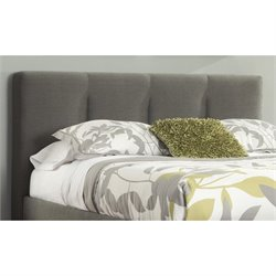 Ashley Masterson Tufted Queen Panel Headboard in Gray