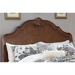 Ashley Balinder Queen Sleigh Headboard in Medium Brown