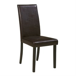 Ashley Kimonte Faux Leather Dining Side Chair in Brown