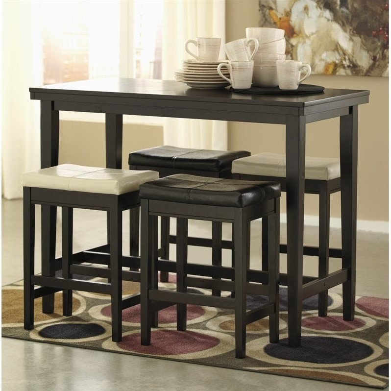 Ashley Kimonte Piece Counter Height Dining Set In Two Tone D - Counter height table for two