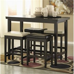Ashley Kimonte 5 Piece Counter Height Dining Set in Two Tone