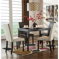 Ashley Kimonte 5 Piece Dining Set in Two Tone