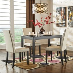 Ashley Kimonte 5 Piece Dining Set in Ivory