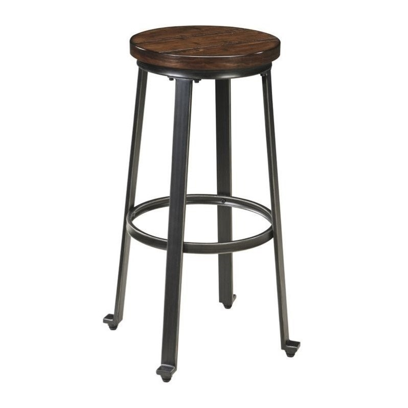 Ashley Challiman 30 Bar Stool In Rustic Brown D307 130