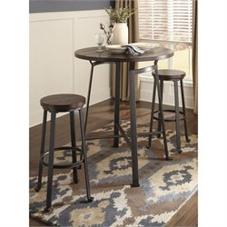 Challiman 3 Piece Round Dining Set