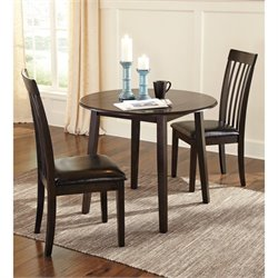 Ashley Hammis 3 Piece Dining Room Set in Dark Brown