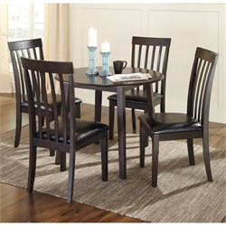 Ashley Hammis 5 Piece Dining Room Set in Dark Brown
