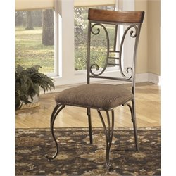 Ashley Plentywood Upholstered Dining Side Chair in Brown