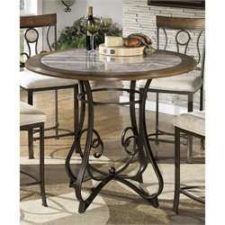 Hopstand Round Faux Marble Dining Table
