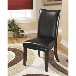 Ashley Charrell Faux Leather Dining Side Chair in Black