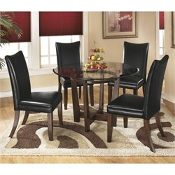 Charrell 5 Piece Glass Round Dining Set