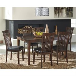 Ashley Mallenton 7 Piece Dining Set in Medium Brown