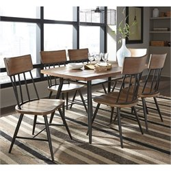 Ashley Jorwyn 7 Piece Dining Set in Light Brown