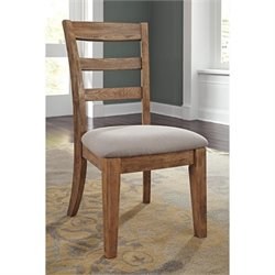 Ashley Danimore Upholstered Dining Chair in Light Brown and Gray