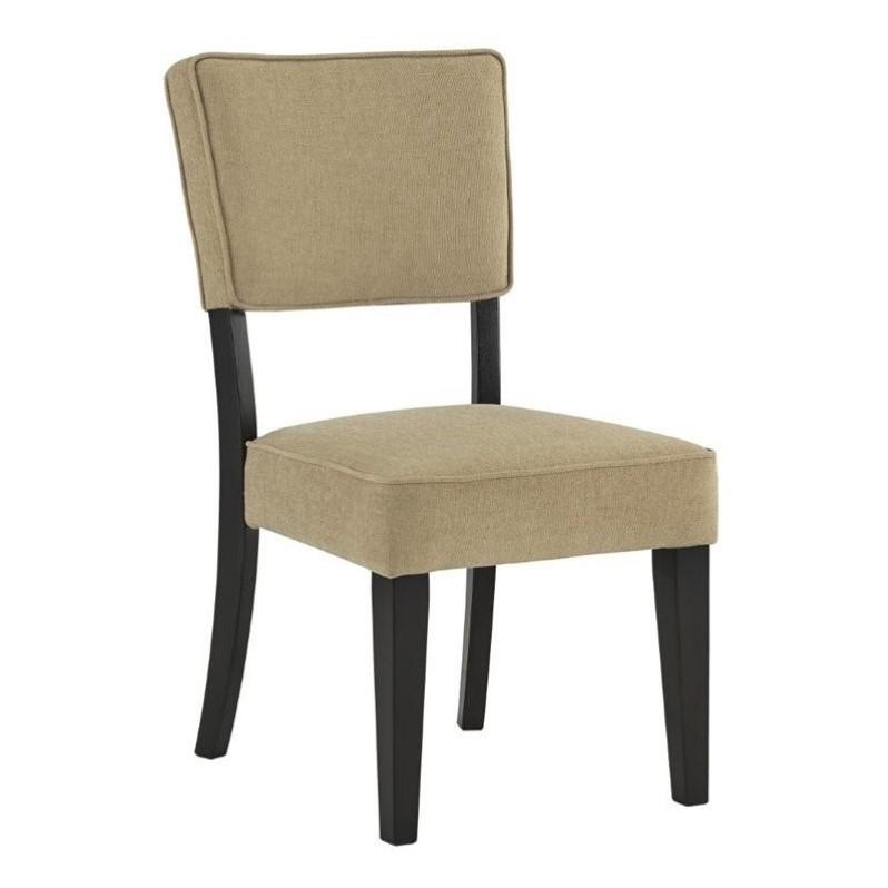 Ashley gavelston fabric upholstered dining chair in beige for Best fabric for kitchen chairs