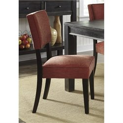 Ashley Gavelston Fabric Upholstered Dining Chair in Brick