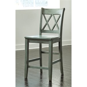 Mestler Stool in Antique Blue and Green