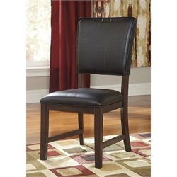 Ashley Watson Faux Leather Dining Chair in Dark Brown