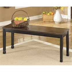 Ashley Owingsville Large Dining Bench in Black and Brown