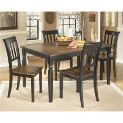 Ashley Owingsville 5 Piece Dining Set in Black and Brown