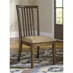 Ashley Birnalla Upholstered Dining Chair in Light Brown