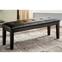 Ashley Haddigan Large Upholstered Dining Bench in Dark Brown