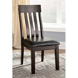 Ashley Haddigan Upholstered Dining Chair in Dark Brown