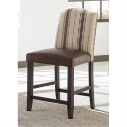 Moriann Upholstered Stool in Cream and Brown