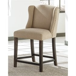 Moriann Upholstered Stool in Light Beige