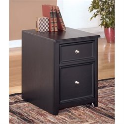 Ashley Carlyle File Cabinet in Almost Black