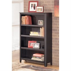 Ashley Carlyle Medium Bookcase in Almost Black