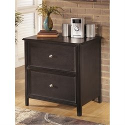 Ashley Carlyle 2 Drawer Lateral File Cabinet in Almost Black