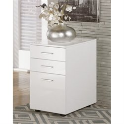 Ashley Baraga 3 Drawer File Cabinet in White