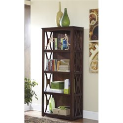 Ashley Devrik 4 Shelf Bookcase in Brown