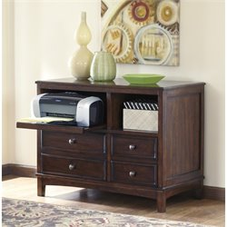 Ashley Devrik Storage Cabinet in Brown