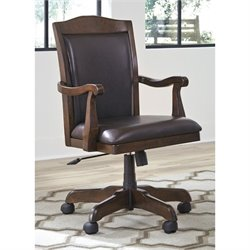 Ashley Porter Home Office Swivel Desk Chair in Brown